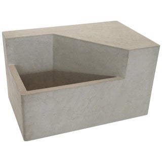 The Scarpa I Cast Concrete Bench or Planter