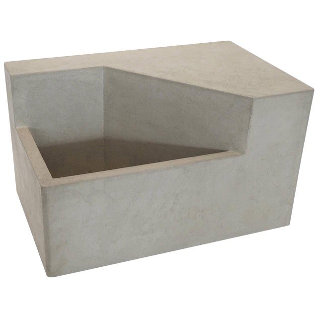 The Scarpa I Cast Concrete Bench or Planter - Image 1 of 5