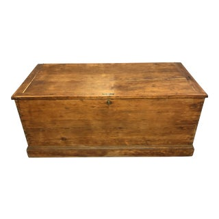Antique English Pine Blanket Chest For Sale