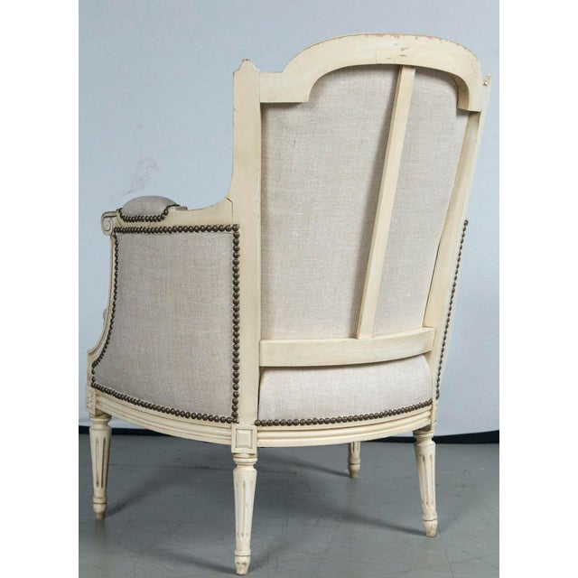 French Louis XVI Style Bergeres - a Pair - Image 7 of 10
