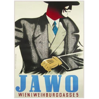 1940s Original Austrian Jawo Fashion Poster For Sale