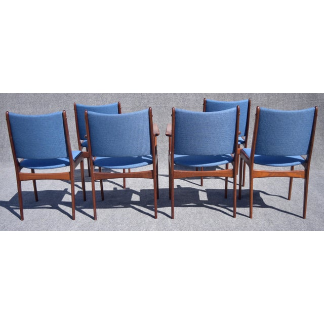 Johannes Andersen Danish Modern Rosewood Dining Chairs - Set of 6 - Image 6 of 9