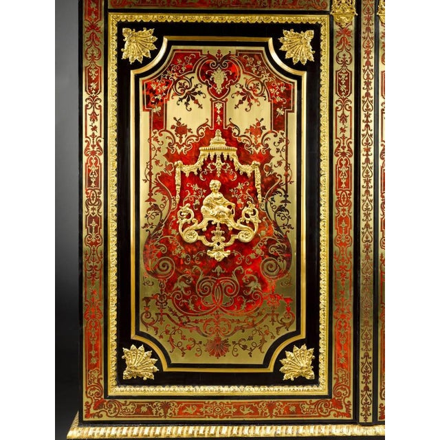 17th Century Stamped Boulle Cabinet by Nicolas Sageot For Sale - Image 5 of 7