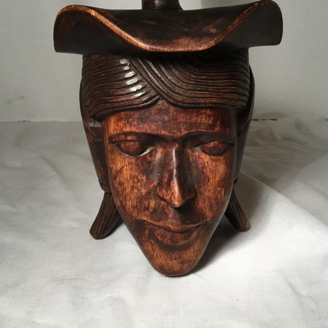 Brown South East Asian Wooden Folk Art Statues For Sale - Image 8 of 11