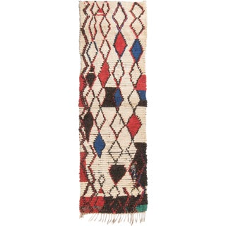 Contemporary Moroccan Geometric Rug - 2′7″ × 8′4″ For Sale