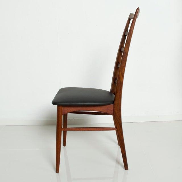 1960s Set of 4 Danish Modern Teak Ladder Back Niels Koefoeds Dining Chairs Hornslet For Sale - Image 5 of 11