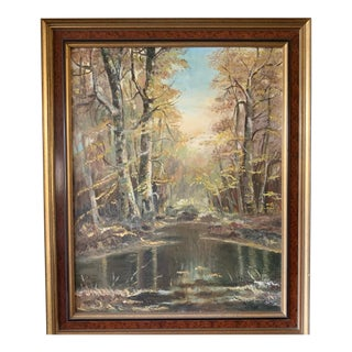 Adirondack Landscape Oil Painting For Sale