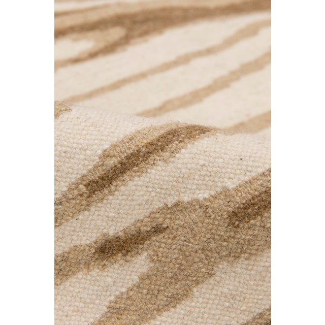 Solo Rugs Grit and Ground Collection Contemporary Arbol Hand-Knotted Flatweave Area Rug, Brown, 6' X 9' For Sale - Image 4 of 5