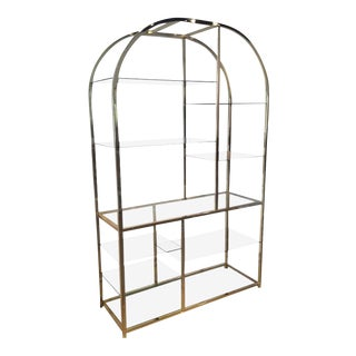 Design Institute of America Dia Milo Baughman Vintage Brass Etagere Shelf