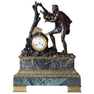 Monumental French Bronze Figural Clock For Sale