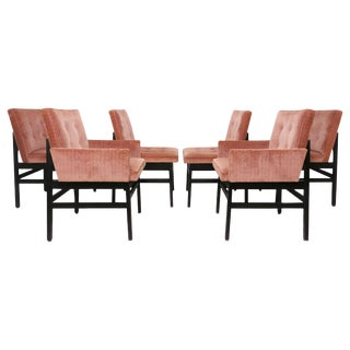 Set of Six Dining Chairs by Paul Evans for Directional Ca. 1970s For Sale