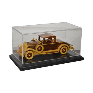 1931 Chrysler CM Hand Crafted Wood Model in Display Case