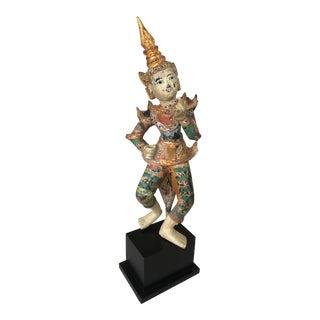 Burmese Dancing Figure Sculpture For Sale