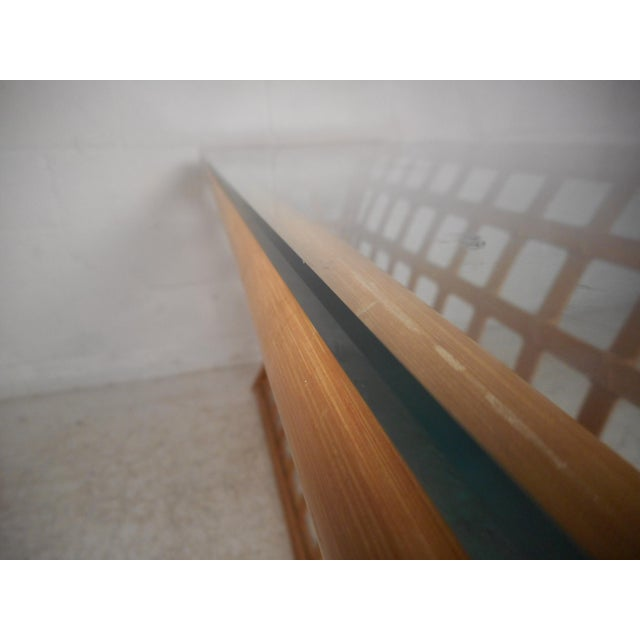 Vintage Modern Bamboo and Glass Console Table For Sale In New York - Image 6 of 12