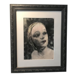 Mixed-Media Figure Collage by Bay Area Artist Hillary Younglove, Framed For Sale