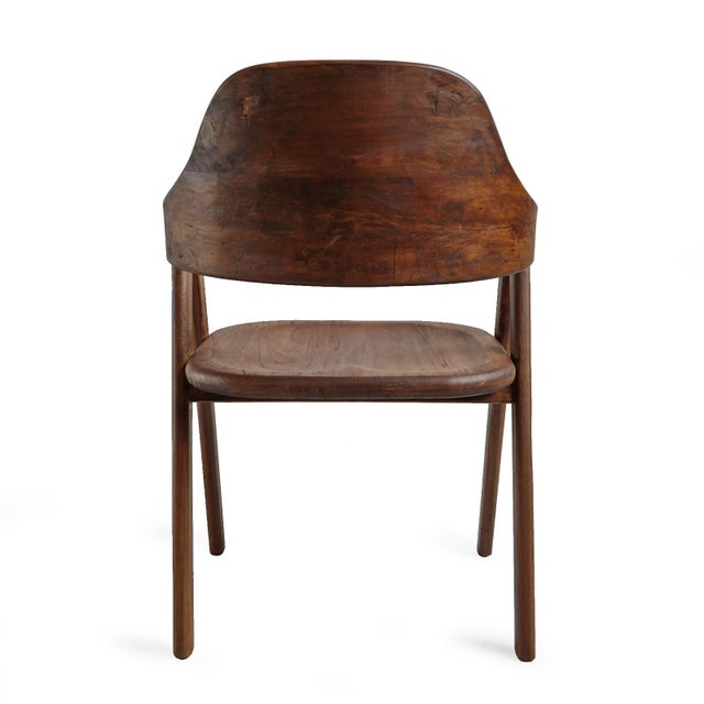 Elm Wood Deco Dining Chair For Sale - Image 4 of 10