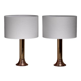 Bergboms Brass Table Lamps, Sweden, 1950s For Sale