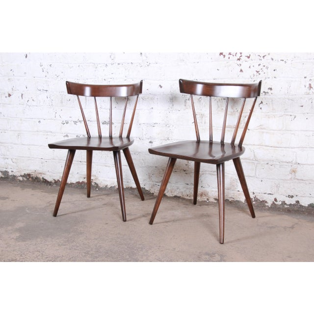 Paul McCobb Newly Refinished Planner Group Dining Chairs, Pair For Sale - Image 13 of 13