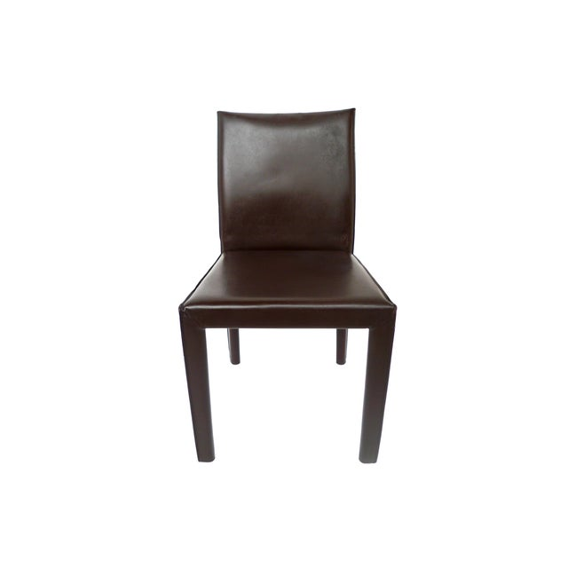 Bellini-Style Leather Side Chairs - A Pair - Image 2 of 9