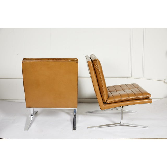 Pair of Midcentury Lounge Chairs For Sale - Image 4 of 13