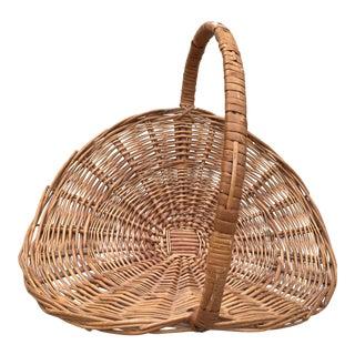 Rustic Wood Woven Basket