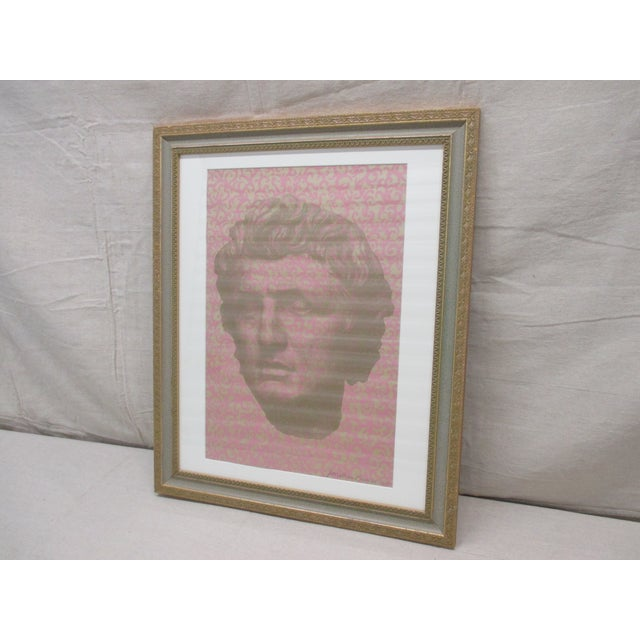 2000 - 2009 Vintage Original Lithograph of David by Muralist Jonathan Bressler For Sale - Image 5 of 5