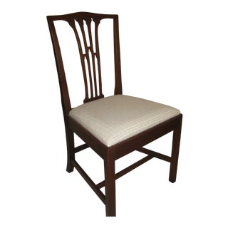 1980s Kittinger Old Dominion Chippendale Mahogany Tie-Back Desk Chair For Sale