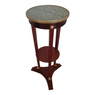 Mahogany Marble Top Pedestal For Sale