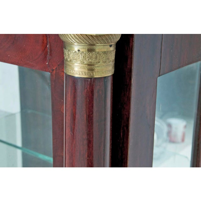 Bronze Early 19th Century French Empire Mahogany Vitrine For Sale - Image 7 of 8