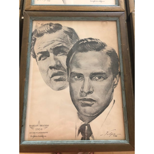 Framed Portraits of Oscar Winners From 1928-1961 - Set of 25 For Sale In Providence - Image 6 of 10
