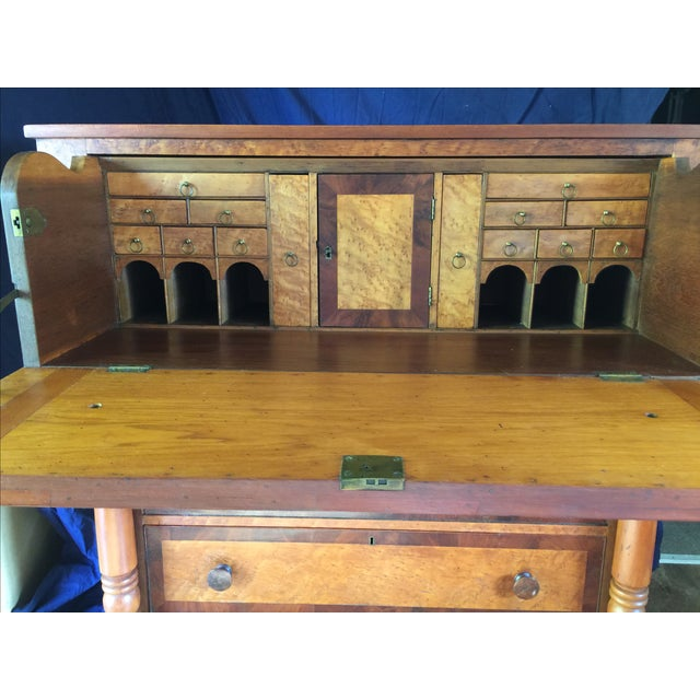 Birdseye Maple Butler's Desk - Image 3 of 9