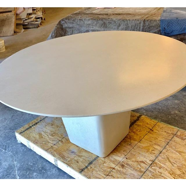 Contemporary Henderson Concrete Dining Table For Sale - Image 4 of 5