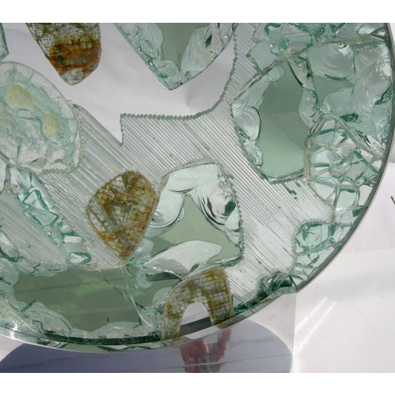 Large Free Standing Glass Sculpture by Kamp - Image 7 of 8