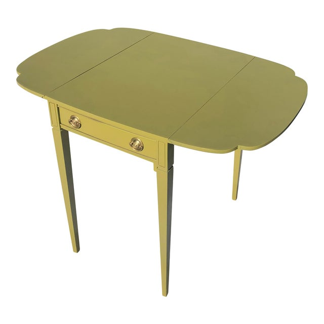 Mid 20th Century Mid 20th Century Mid Century Lacquered Pembroke Tables - a Pair For Sale - Image 5 of 7