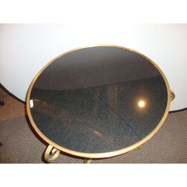 Bronze & Marble Two Tier Gueridon Side Table - Image 9 of 9