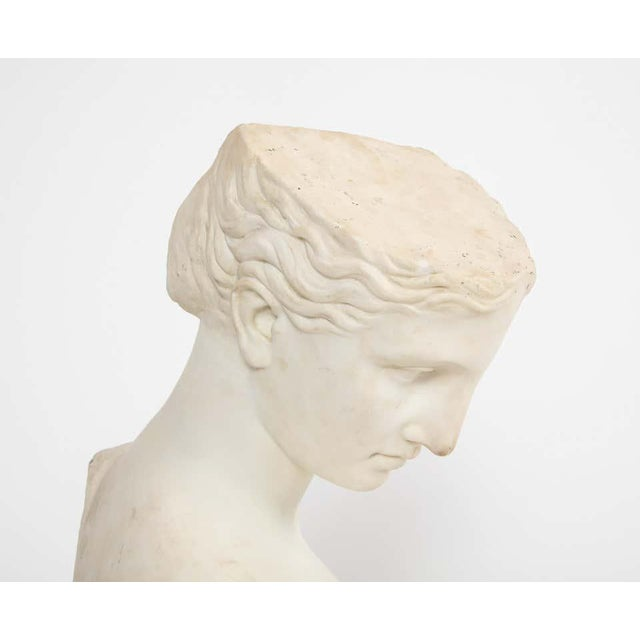 Antique Italian Neoclassical Marble Bust of Psyche, by Giuseppe Carnevale For Sale - Image 4 of 13