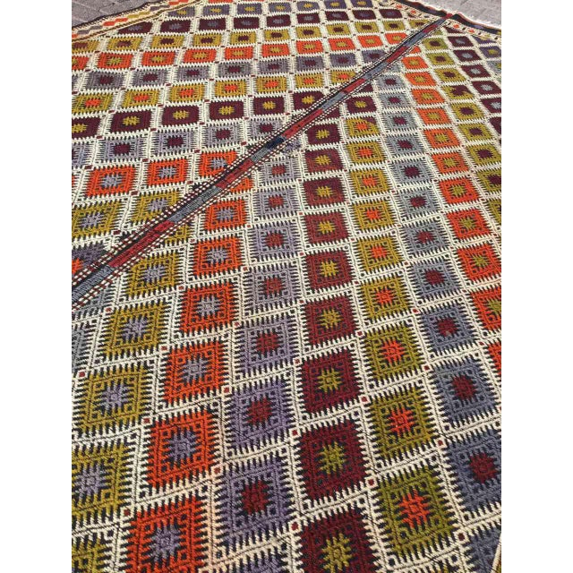 "Turkish Kilim Rug - 5'4"" X 9'1"" - Image 7 of 11"