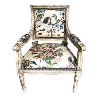 French Child's Bergere Chair For Sale
