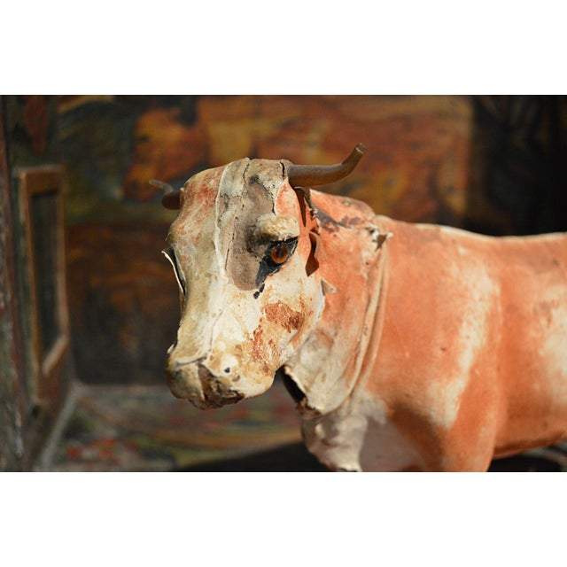 Vintage Leather Cow Pull Toy - Image 5 of 11