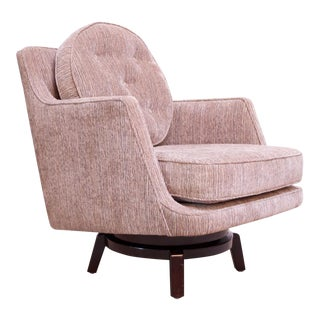 Edward Wormley for Dunbar Revolving Lounge Chair in Mahogany For Sale