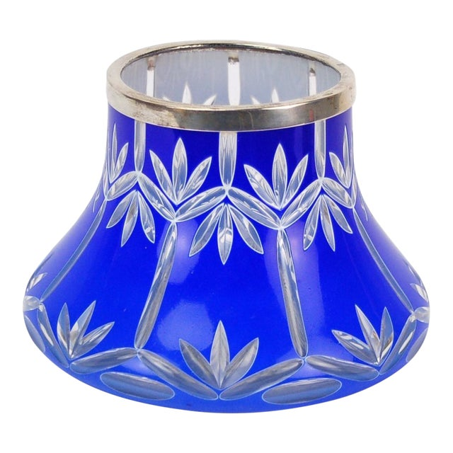 Early 20th Century Bohemian Cased Cut Glass Vase For Sale