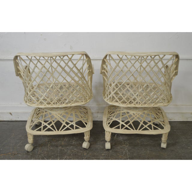 Russell Woodard Russell Woodard Spun Fiberglass Table & Chairs - Set of 5 For Sale - Image 4 of 11