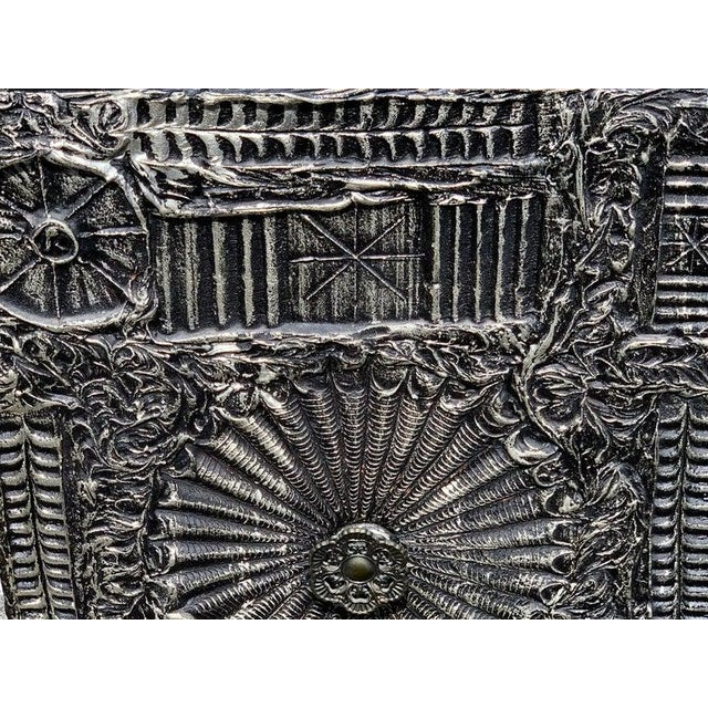 """Wood Adrian Pearsall for Craft Associates """"Sculpted Bronze"""" Brutalist Credenza For Sale - Image 7 of 12"""