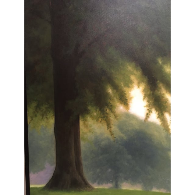 This piece of art is a beautiful canvas oil painting by the established realist painter, J.R. Newton. Newton set his...