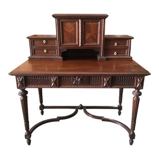 French Louis XVI-Style Carved Writing Desk For Sale