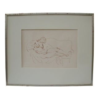 Reclining Nude Woman by Bernard Karfiol For Sale