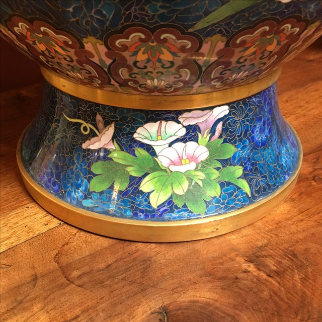 Chinese Cloisonne Style Vases - A Pair - Image 7 of 11