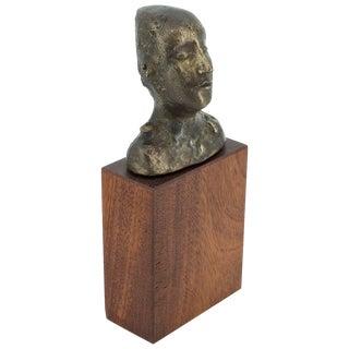 Susana Espinosa Cabeza Mujer Bronze Sculpture Argentina Puerto Rico Artist Rican For Sale