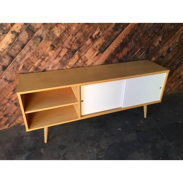Mid Century Style Custom Maple Credenza For Sale In Los Angeles - Image 6 of 6