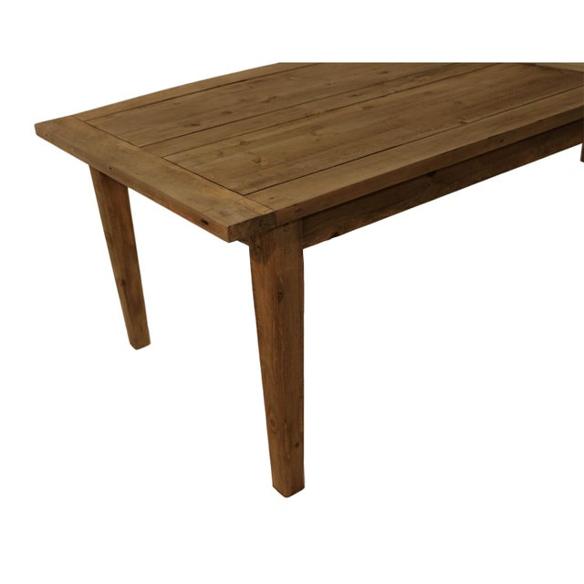 Parsons Rectangular Reclaimed Old Wood Dining Table - Image 7 of 10